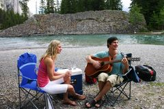 Couple on a picnic Stock Photo