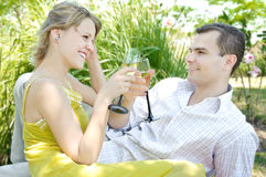 Couple at picnic Royalty Free Stock Photography