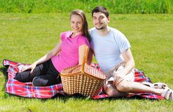 Couple on picnic Royalty Free Stock Photos