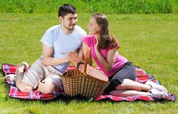 Couple on picnic Royalty Free Stock Photo