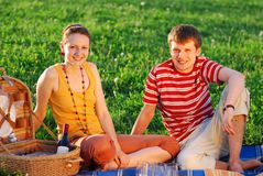 Couple on picnic Stock Photo
