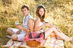 Couple at a picnic Stock Photography