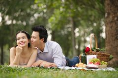 Couple on picnic Royalty Free Stock Images