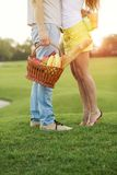 Couple in picnic Royalty Free Stock Images