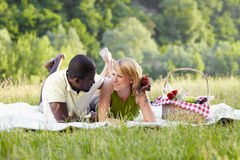 Couple picnicking in park Royalty Free Stock Photo