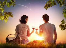 Couple picnicking together Royalty Free Stock Photos