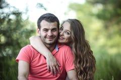 Couple on a picnik Stock Image