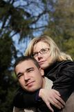 Couple piggyback Royalty Free Stock Image