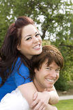 Couple piggyback Royalty Free Stock Photography