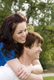 Couple piggyback Royalty Free Stock Photos