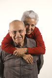 Couple in piggyback ride Royalty Free Stock Photo