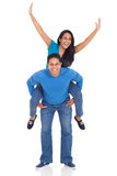 Couple piggyback ride Royalty Free Stock Image