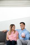Couple With Piggybank Royalty Free Stock Images
