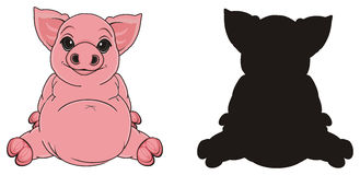 Couple of pigs Royalty Free Stock Photo