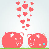 Couple of pigs Royalty Free Stock Image