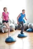 Couple pilates workout Stock Photo