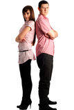 Couple in pink Stock Images
