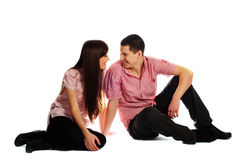 Couple in pink Royalty Free Stock Image