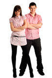 Couple in pink Royalty Free Stock Images