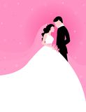 Couple with pink background Royalty Free Stock Image