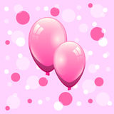 Couple pink balloon on bokeh background Stock Photography