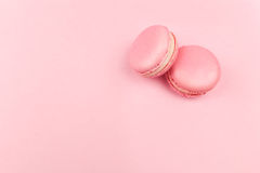 Couple pink macaroons Royalty Free Stock Image