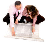 Couple planning their house Royalty Free Stock Photos