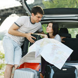 Couple planning their trip Stock Photography