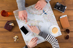 Couple planning travel to Rome, Italy Royalty Free Stock Image