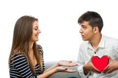 Couple with playful behavior. Stock Images