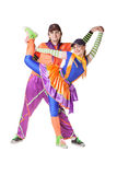 Couple of playful clowns Royalty Free Stock Photo