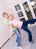 Couple playing around Stock Photos