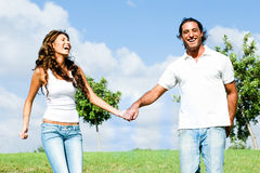 Couple playing around Royalty Free Stock Photography