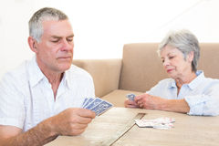 Couple playing cards Royalty Free Stock Photos