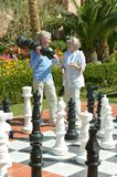 Couple playing chess Royalty Free Stock Photography