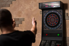 Couple Playing Darts Royalty Free Stock Photo
