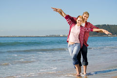 Couple playing freely Royalty Free Stock Image