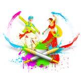 Couple Playing Holi Royalty Free Stock Image