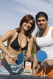 Couple Playing Table Tennis Royalty Free Stock Images