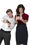 Couple playing video games Stock Photo
