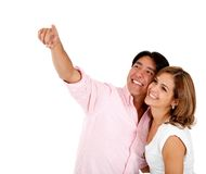 Couple pointing at something Stock Photo