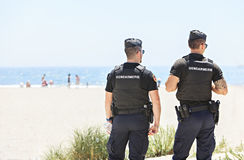 Couple of policemen Royalty Free Stock Images