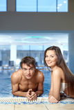 Couple at pool Royalty Free Stock Photography