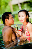 Couple In Pool Stock Photography