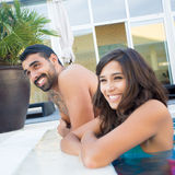 Couple in pool Royalty Free Stock Images