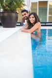 Couple in pool Royalty Free Stock Photography