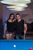 Couple Pool Player Stock Photography