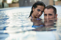 Couple in the pool Stock Photos