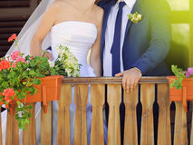 Couple at Porch Stock Photography