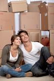 Couple portrait moving Royalty Free Stock Photography